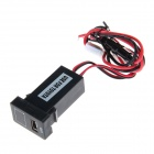 Car 2.1A USB Port Socket with Voltage Display for Toyota - Black
