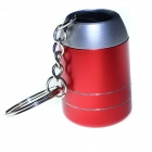 Mini Portable 6-LED White Aluminum Key Chain Torch Light - Red (2 x CR2032)