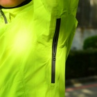 SAHOO Outdoor Sports Cycling Windproof Rainproof Long Sleeves Coat - Fluorescent Green (Size XXL)