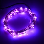 5W 19lm 405nm 50-LED Purple Holiday Light String w/ Controller(5M)