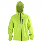SAHOO Outdoor Sports Cycling Windproof Rainproof Long Sleeves Coat - Fluorescent Green (Size XL)