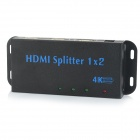 1-IN 2-OUT 4K x 2K HD 3D HDMI 1.4 Splitter - Black + Blue (US Plug / 100~240V)