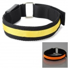 SENCART Outdoor LED Emitting 3-Mode Safety Armband - Black + Yellow (2 x CR2032)