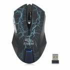 R.Horse RF-6340 2.4GHz Wireless 1600dpi Gaming Mouse - Blue + Black
