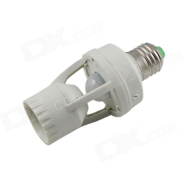 E27 360 Degrees Infrared Motion Sensor Lamp Holder Base - White (AC110~220V)Other Accessories<br>ModelYCB1060MaterialPVCForm  ColorWhiteQuantity1 DX.PCM.Model.AttributeModel.UnitPowerOthers,Rate VoltageAC110~220VConnector TypeE27Other Features- Detection Range : 360°<br>- Power source : 110~220V/AC <br>- Power Frequency :50/60Hz <br>- Rated Load : Packing List1 x Induction lamp base<br>