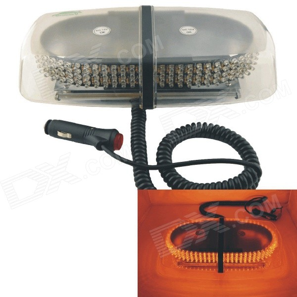 Carking Car Vehicle 24W 240-LED Yellow Light Warning Flashing LampDecorative Lights / Strip<br>Color BINYellowModelHS-52010(CS1099)Quantity1 DX.PCM.Model.AttributeModel.UnitMaterialPlasticForm ColorTransparent + Black + Multi-ColoredEmitter TypeLEDChip BrandOthers,N/AChip TypeN/ATotal EmittersOthers,240Power24WWavelength590-560 DX.PCM.Model.AttributeModel.UnitActual Lumens1100 DX.PCM.Model.AttributeModel.UnitRate Voltage12VWaterproof FunctionYesConnector TypeOthers,Car chargerApplicationOthers,Warning lampPacking List1 x Warning Light<br>