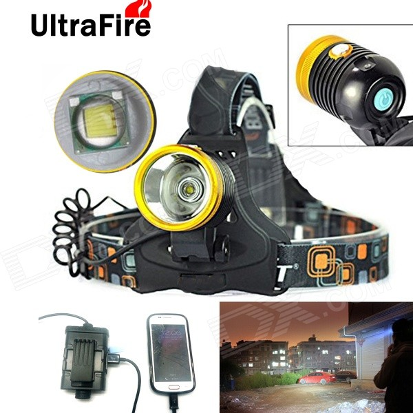 UltraFire Water-Resistant 800lm 3-Mode Touch Switch Headlamp