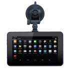 "7"" 720p Android 4.4.2 Car GPS Navigator DVR WiFi 8GB BR Map - Black"