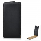 Protective Top Flip-Open Split Leather Case Cover for Sony Z3 Mini / Xperia Z3 Compact - Black