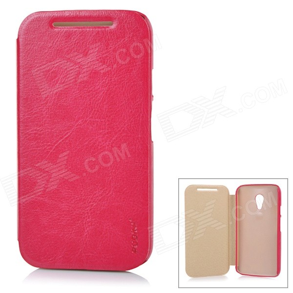 PUDINI WB-IgG2 Protective PU-Leder Flip-open-Cover für Motorola MOTO G2 - Deep Pink