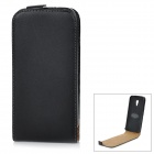 Protective Top Flip-Open Split Leather Case Cover for Motorola MOTO G2 - Black