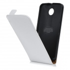 Protective Top Flip-Open Leather Case for Motorola NEXUS 6 - White