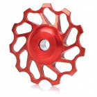 WS-D03A 11T Aluminum Alloy Bike Rear Derailleur Guide Pulley Wheel - Red