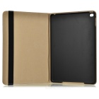 Protective Patterned Flip-Open PU + PC Case w/ Auto Sleep & Stand for IPAD AIR 2 - White + Black