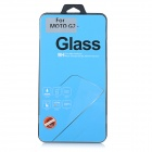 Clear Tempered Glass Screen Protector Film Guard for Motorola MOTO G2 - Transparent
