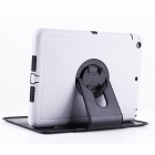 Ultra-Slim TPU Case w/ Rotatable Stand for IPAD AIR - White + Black
