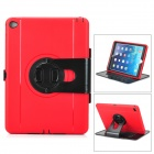 Ultra-Slim TPU Case w/ Rotatable Stand for IPAD AIR 2 - Red + Black