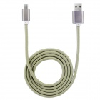 PZ-58 High Speed 35-Copper Wire Core Nylon USB  / Micro USB Data Cable - Yellow (100cm)