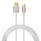 PZ-58 35-Copper Wire Core USB - Micro USB Data Cable - Golden (1m)