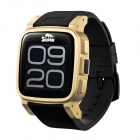 "Snopow W1 IP68 Bluetooth V3.0 1.6"" LCD Smart GSM Watch Phone w/ Alarm, Pedometer - Black + Golden"