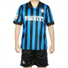 09 Inter Milan National Football/Soccer Team Sports Suit - XXXL (Blue + Black)