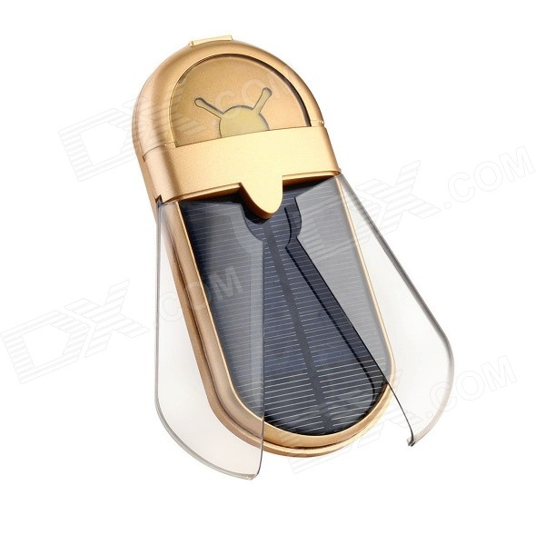 5500mAh Beetle Solar Panel Power Bank - Golden