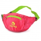 HASKY3000 Water Resistant Nylon Foldable Waist Bag - Green + Red (2.5L)