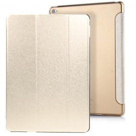 3-Fold PU Case Cover Stand w/ Auto Sleep for IPAD AIR 2 - Gold