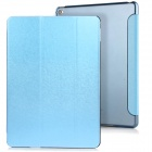 3-Fold PU Case Cover Stand w/ Auto Sleep for IPAD AIR 2 - Blue