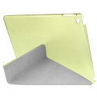3-Fold PU capa w / auto sleep + stand para IPAD AIR 2 - verde