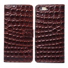 "Stylish Stone Pattern Protective PU + PC Case w/ Stand for IPHONE 6 4.7"" - Deep Brown"