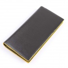 Fashion PU Long Wallet for Men - Black + Yellow