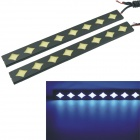 Carking 8W 490-450nm 230lm 8-COB LED Ice Blue Car Decorative Daytime Running Light (12V / 2 PCS)