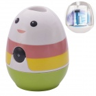 SZ0016-1 Cute Tumbler Style Rainbow UV Sterilization Toothbrush Sanitizer - White + Red (3 x AAA)