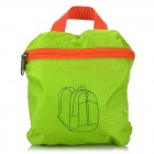 HASKY0974 Water Resistant Nylon Backpack - Green + Orange (20L)