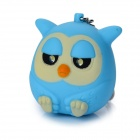 Cute Owl Style 10lm 25000K 2-LED Cool White Light Keychain w/ Sound Effect - Blue (3 x AG10)