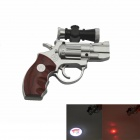 Gun Shape Electric Shock Joke Prank Projection Lamp Toy - Black + Silver (3 x AG13)