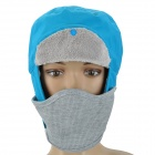 Men's Winter Outdoor Sports Warm Hat w/ Removable Face Mask - Blue + Grey