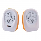 Universal Wired Speakers w/ 3.5mm / USB 2.0 for Computer / Cell Phone - Orange + White