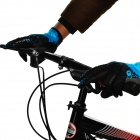 NUCKILY PD01 Women's Touch Screen Cycling Gloves - Blue + Black (M)