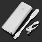 Xiaomi NDY-02-AL + MUE4001CN 16000mAh Li-ion Power Bank + USB LED Lamp Set - White + Silver
