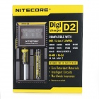 "NiteCore D2 2.2"" LCD 2-Slot Battery Charger - Zwart (US stekkers)"