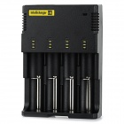 NiteCore I4 Universal 4-Slot Rechargeable Battery Charger - Black (UK Plug)