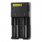 NiteCore I2 Universal Dual-Slot Rechargeable Battery Charger - Black (US Plug)