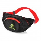 HASKY3000 Water Resistant Nylon Foldable Waist Bag - Black + Red (2.5L)