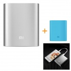 "Xiaomi Universal ""10400mAh"" Li-ion Battery Power Bank w/ Protective Case Cover – Silvery Grey + Blue"