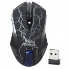 R.Horse RF-6340 2.4GHz Wireless USB 2.0 LED Optical Gaming Mouse - Black + Silver (2 x AAA)