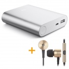 Xiaomi Universal 5.1V 10400mAh Li-ion Battery Power Bank w/ LED Indicator + In-Ear Style Earphones