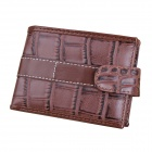 D1204-6 Men's Stylish Casual Folding PU Leather Purse Wallet - Coffee