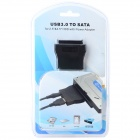 "USB 3.0 to SATA 22-Pin Adapter Cable for 3.5"" / 2.5"" SATA HDD - Black"